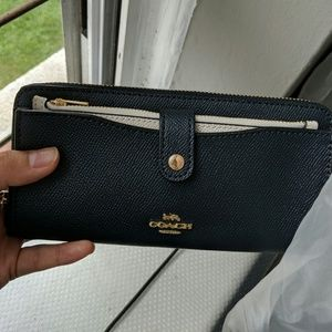 Coach Bags - New Coach wallet and card holder set navy